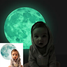 30cm Large Moon Glow in the Dark Wall Stickers Moonlight Home Decor Decoration