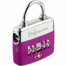 Go Travel TSA Approved Baggage Luggage Birthday Lock (Purple) 355PU
