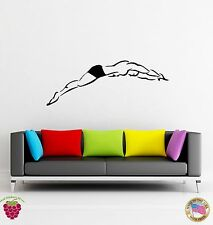Wall Stickers Vinyl Dive Swimming Water Sport  Platform Diving (z1657)
