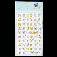 5 Sheet Alphabet Letter Stickers Self Adhesive Stick On Diary Book Sticker CG
