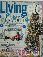 Living Etc UK Dec 2016 Festive Glamour Winter Bedrooms Homes FREE SHIPPING sb