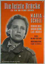 Die letzte Brücke THE LAST BRIDGE Maria Schell -  original Filmplakat DIN A1