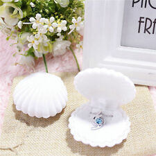 1Pcs Beautiful Shell Velvet Gift Box Necklace Storage Box Ring Boxes Received
