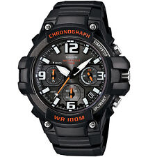 Casio MCW100H-1AV, Chronograph Watch, Black Resin Band, 100 Meter WR, Date