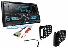 KENWOOD DOUBLE 2 DIN CAR STEREO SIRIUS XM RADIO RECEIVER W/ DASH KIT & HARNESS