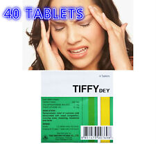 40 TABLETS TIFFY DEY 500MG ANTIPYRETIC NASAL CONGESTION RELIEF PAIN