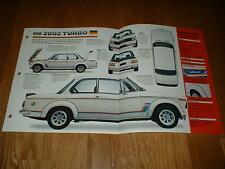 ★★1973 BMW 2002 TURBO ORIGINAL IMP BROCHURE SPECS INFO POSTER 73 74★★