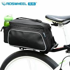 Roswheel Cycling Seat Bag Bicycle Bike Rear Rack Pack Pouch Case Pannier Black