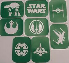 Confezione di 8 STAR WARS-1 Body Art Tattoo Stencil AEROGRAFO glitter corpo colla
