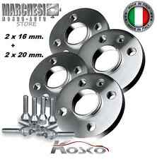 KIT 4 DISTANZIALI RUOTE 16+20 mm. FIAT PUNTO EVO ABARTH 2009- 2012 CON BULLONI