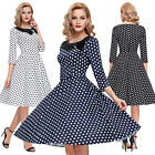 VINTAGE 50'S STYLE PINUP SWING WRAP EVENING PARTY DRESS SIZES 6 - 26