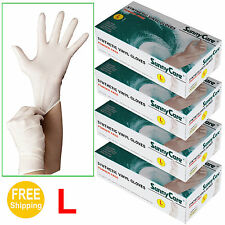 400 Synthetic Vinyl Disposable Gloves (Powder Free) (Nitrile Latex Free)  Large