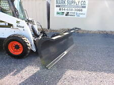 CID Xtreme Duty Snow Plow Power Angle Skid Steer Quick Attach Loader Tractor !!!