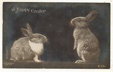 RPPC A Happy EASTER Cute Bunny Rabbits Rotograph Vintage Real Photo Postcard