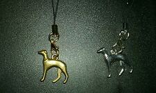 Lot of 2 GREYHOUND 3D Charms Lobster clasp Mini Lanyard ANIMAL RESCUE DONATION