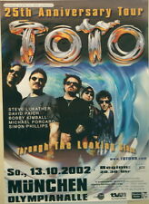 TOTO CONCERT TOUR POSTER 2002 THROUGH THE LOOKING GLASS