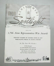 Vintage 1942 AVON SPOTLIGHT ACHIEVEMENT MAGAZINE Gold Medallion 500 Club January