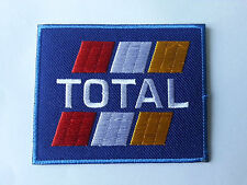 MOTORSPORTS RACING TYRE SEW ON / IRON ON PATCH:- TOTAL (c) FUELS BLUE BLOCK