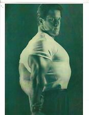 Mr Universe REG PARK Tricep Pose In Tee Shirt Bodybuilding Muscle Photo B&W