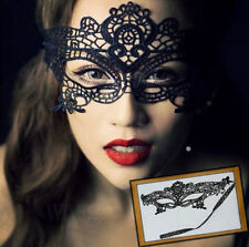 New Black Lace Venetian Mask Masquerade Ball Prom Halloween Costume Fancy Dress