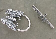 Bali Sterling Silver Butterfly Toggle Clasp