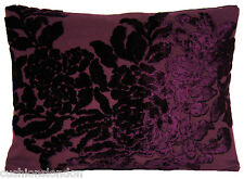 Purple Cushion Cover Soubise Velvet Roses Osborne & Little Fabric Rectangular