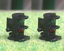 Pack of 2 OO Gauge Green / Red 3mm LED Dwarf Signals 12 Volt