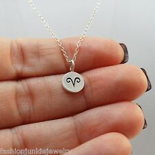 Aries Necklace - 925 Sterling Silver - Tiny Horoscope Zodiac Charm Jewelry NEW