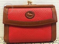 Vintage~Dooney & Bourke AWL W03 French  Wallet *RED* #16047T