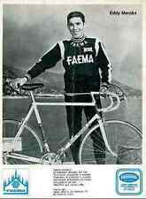 EDDY MERCKX Cyclisme FAEMA Team vélo 1970s ciclismo Cycling Tour de France