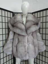 BRAND NEW NORWEGIAN (BLUE) FOX FUR JACKET COAT WOMEN WOMAN SIZE ALL