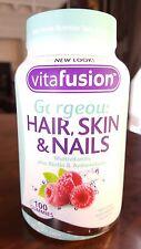 Vitafusion Gorgeous Hair, Skin & Nails Multivitamin, 100 Gummies EXP.02/18 FRESH