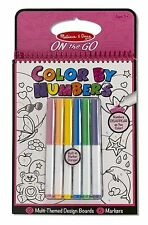 Melissa And Doug On The Go Colour By Numbers Book Pink