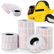 10 Rolls Price Label Paper Tag Sticker MX-5500 Labeller Gun White Red Line LE