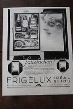 Ancienne publicité de presse - 1934 - FRIGELUX ELECTRO LUX / PHILIPS 636