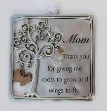 q Mom thnk you for giving me roots grow wings fly TREE OF LIFE ORNAMENT ganz
