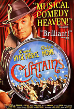 CURTAINS Orig Broadway Poster DAVID HYDE PIERCE NYC 2'x3'Rare 2007
