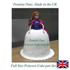 3D FULL SIZE BARBIE Princess cake tin Set Mould  bake Pan Doll  Dress Fondant