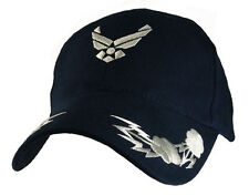 U.S. Air Force Hat / USAF Insignia with Bolts Dark Navy Baseball Cap 6386