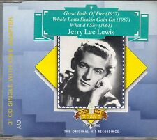 "JERRY LEE LEWIS - Great balls of fire - CD 3"" SINGLE MAXI JEWEL CASE 3T 1989"