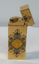 EXQUISITE K HANSOTIA & CO RARE DRAGON LIGHTER & 24K GOLD MEDALLION INSERT