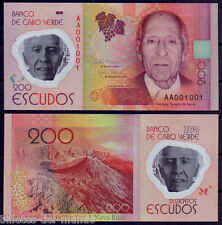 B-D-M Cabo Cape Verde 200 escudos Polymer 2014 (2015) Pick 71 AA Low serial UNC