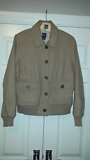 GAP Virgin Wool Womens Bomber Jacket - Size 12/14