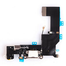 iPhone 5S Ladebuchse Dock Connector Audio Jack Mikrofon Flex-Kabel weiß #424