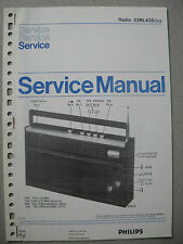 Philips 22 RL435 Kofferradio Service Manual