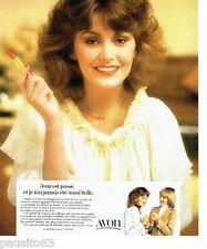 PUBLICITE ADVERTISING 116  1978  les rouges à lèvres Avon  maquillage