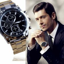 Luxury Men's Date Fashion Army Sport Stainless Steel Quartz Analog Wrist Watch