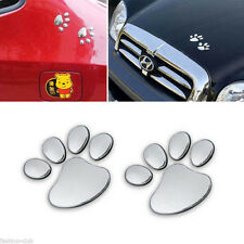 Bear Dog Animal Paw Footprint Car Wall Sticker Emblem Window Bumper Body Decal