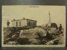 cpa 63 pierre sur haute poste de telegraphe croix du sommet