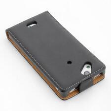 Custodia per cellulare Sony Ericsson Xperia Arc S lt18i nero flip case cover di protezione
